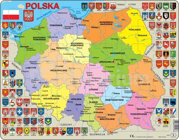 Puzzle Mapa Polski Administracyjna Mapy Puzzle I Maty