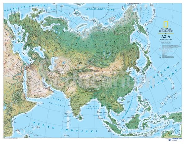 Mapa Fizyczna Azja 160x120 Cm Skala 1 8 600 000 Mapy Inne