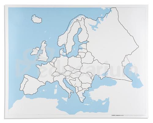 Europa Mapa Kontrolna Bez Podpisow Mapy Puzzlowe Educarium