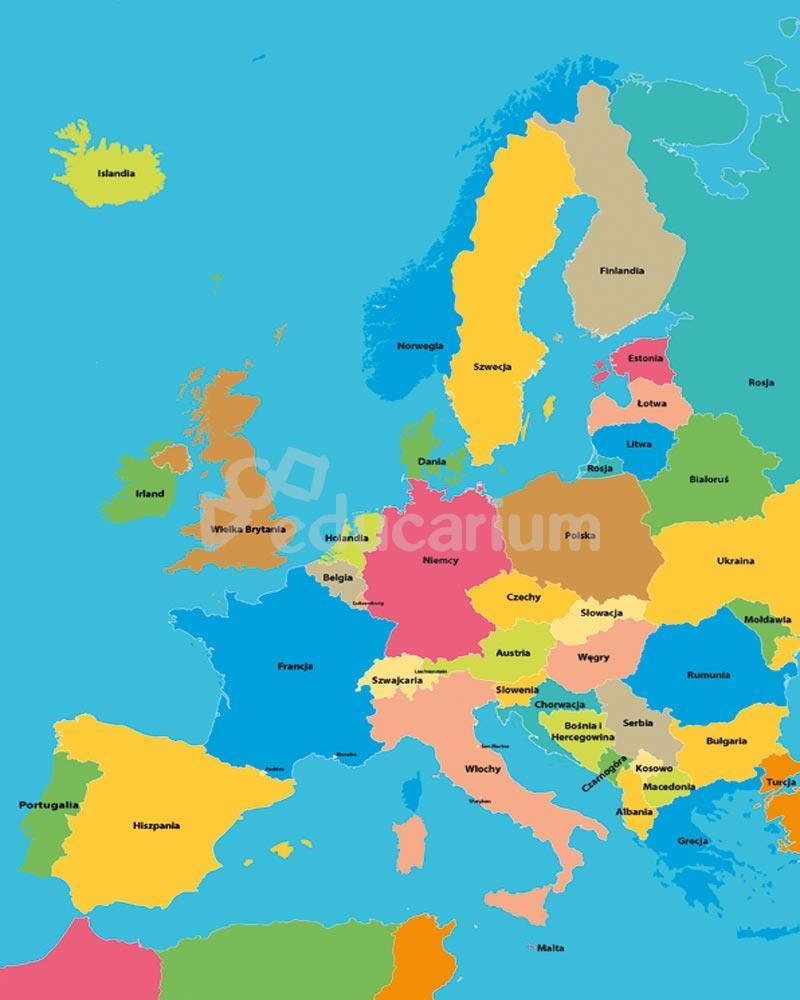 Mapa Europy Mata Podlogowa Mapy Puzzle I Maty Educarium