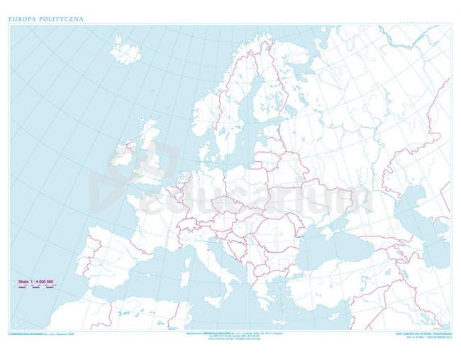 Mapa Konturowa Europy 160 X 120 Cm Skala 1 4 000 000 Mapy
