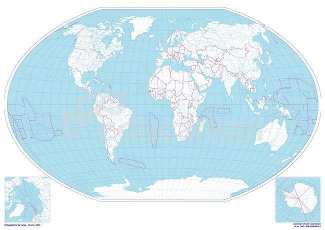 Mapa Konturowa Swiata 160 X 120 Cm Skala 1 25 000 000 Mapy