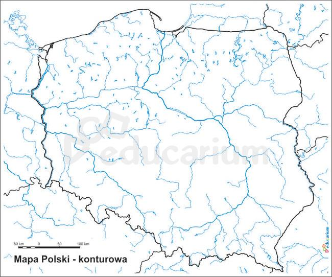 Mapa Polski Scienna Drogowa Duze Zblizenie Drog Czestochowa