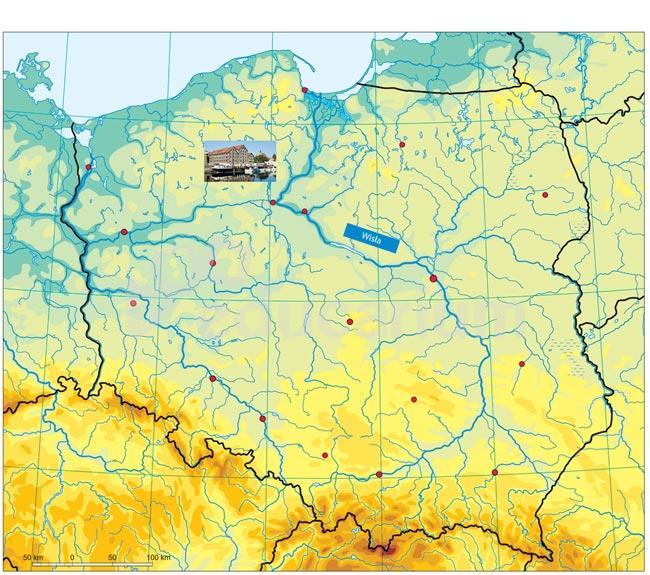 Mapa Polski Magnetyczna Fizyczna 71 X 60 Cm Magnetyczne Mapy