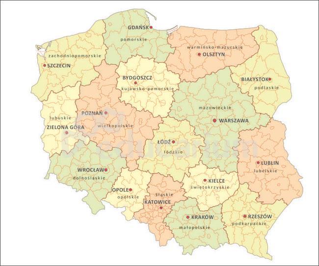 Nakladka Elektrostatyczna Do Mapy Konturowej Polski Mapa