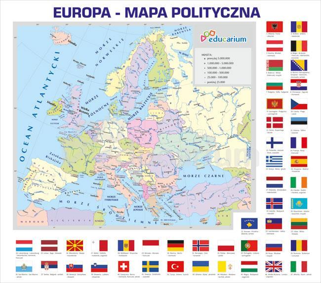 Europa Mapa Polityczna 150 X 170 Cm Mapy Polityczne Educarium