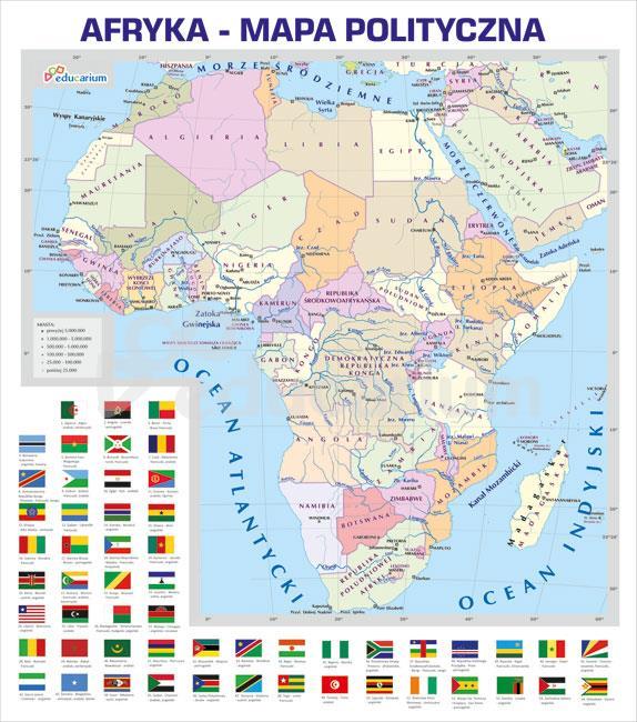 Afryka Mapa Polityczna 150 X 170 Cm Mapy Polityczne Educarium