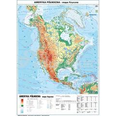 Mapa Ameryka Poludniowa Fizyczna Polityczna 100x140 Cm Skala 1